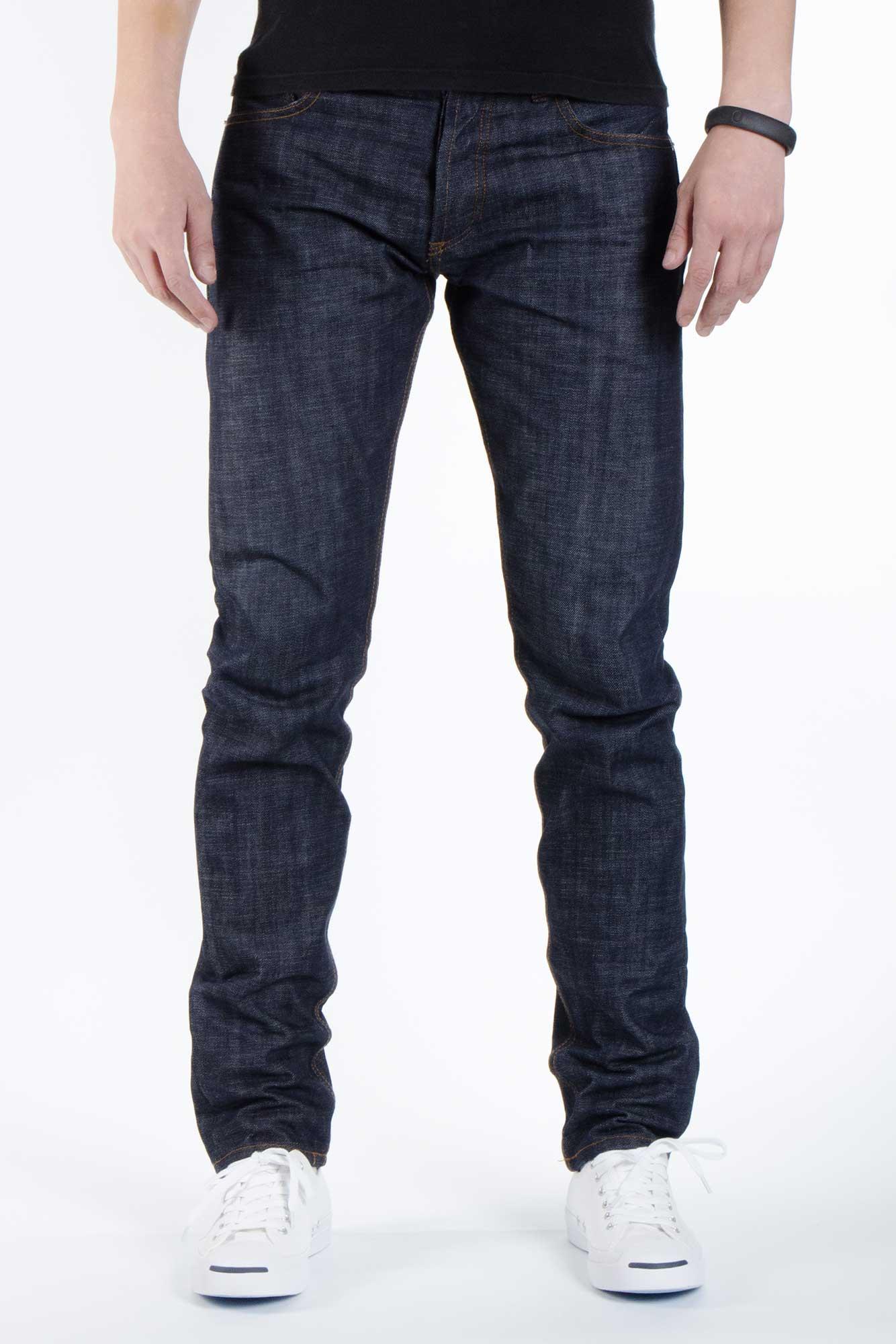 Trine Denimes Men Raw Denim Jeans Modern Slim fit Jeans